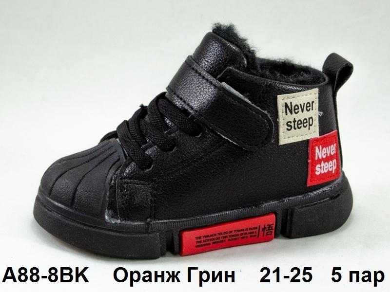 Оранж Грин Ботинки демисезонные A88-8BK 21-25