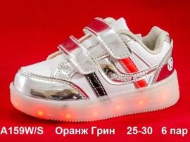 Оранж Грин. LED кроссовки A159W/S 25-30