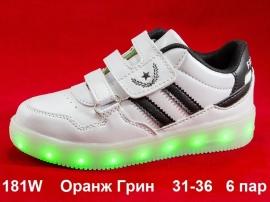 Оранж Грин. LED кроссовки 181W 31-36