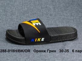 Оранж Грин Шлепки 288-018Н\BK\OR 30-35