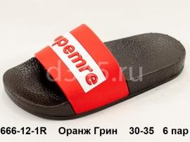 Оранж Грин Шлепки 666-12-1R 30-35