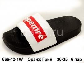 Оранж Грин Шлепки 666-12-1W 30-35
