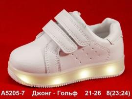 Джонг - Гольф Кроссовки LED A5205-7 21-26