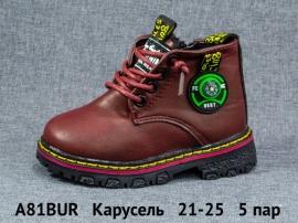 Карусель Ботинки зимние A81BUR 21-25