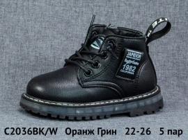 Оранж Грин Ботинки демисезонные C2036BK/W 22-26