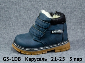 Карусель Ботинки зимние G3-1DB 21-25