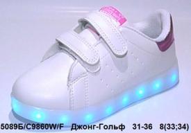 Джонг - Гольф. LED кроссовки C9860-9W/F 31-36