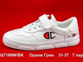 Оранж Грин Слипоны Q7169W\BK  31-37