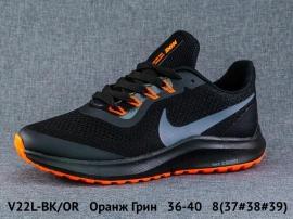 Оранж Грин Кроссовки закрытые V22L-BK/OR 36-40