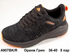 Оранж Грин Кроссовки летние A907BK\OR    36-40