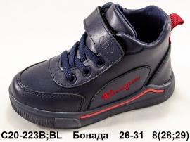 Бонада Ботинки демисезонные C20-223B/BL 26-31