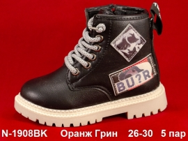 Оранж Грин Ботинки демисезонные N-1908BK  26-30