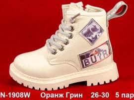 Оранж Грин Ботинки демисезонные N-1908W  26-30