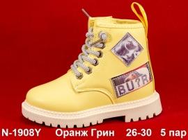 Оранж Грин Ботинки демисезонные N-1908Y 26-30