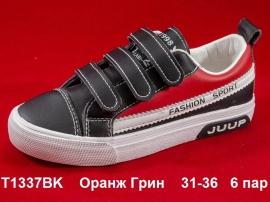 Оранж Грин Слипоны T1337BK 31-36