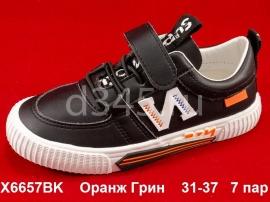 Оранж Грин Слипоны X6657BK 31-37