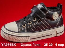 Оранж Грин Ботинки демисезонные YA986BK 25-30